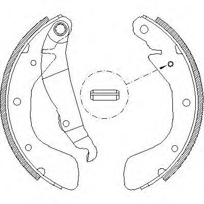 Brake Shoe Set Remsa 4398 00 For Opel Daewoo Chevrolet