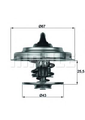 thermostat - Mercedes-Benz PONTON (W120/W121) - Parts