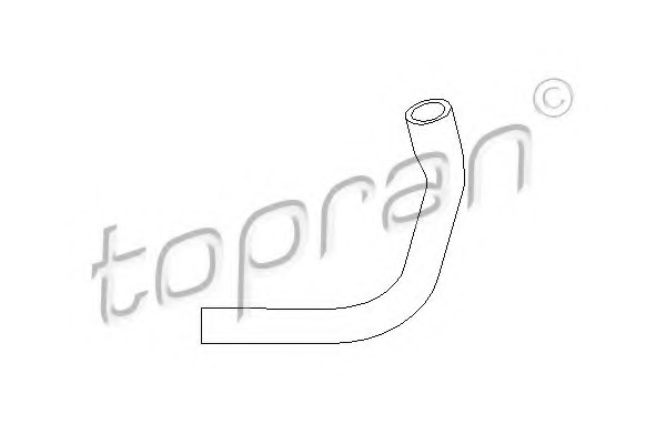 cylinder head cover breather 107 394 TOPRAN Hose