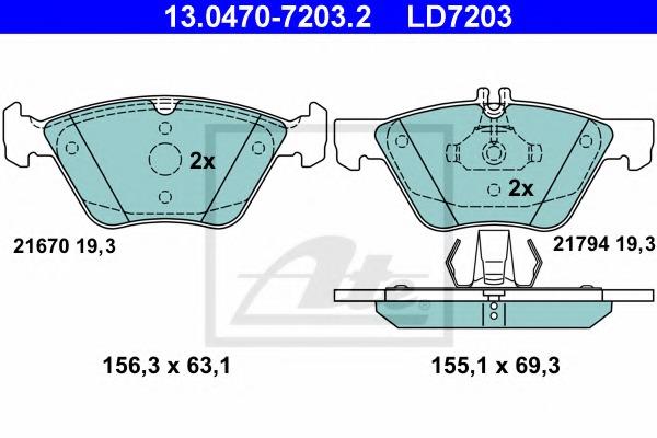 LPR 05P406/Brake Pad Set disc brake