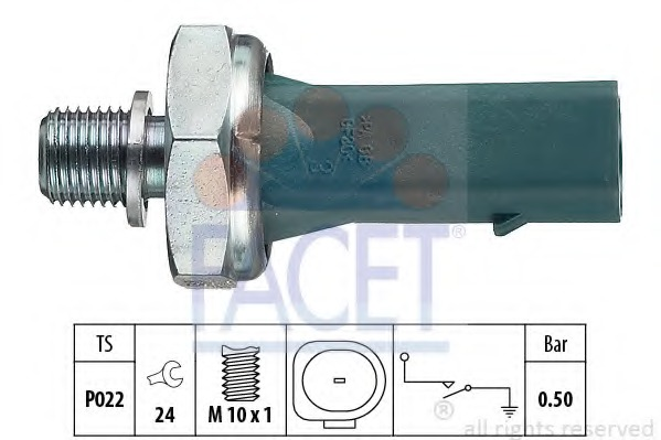 HELLA 6ZL 008 280-001 Oil Pressure Switch Thread Size M10x1 0,3 to 0,6 bar