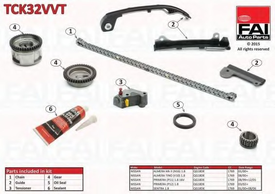 Timing Chain Kit - NISSAN SENTRA (B15) - Parts