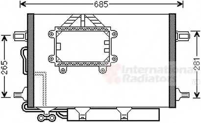 AC condenser - Mercedes-Benz E-Class (W211) SDN/ESTATE - Parts