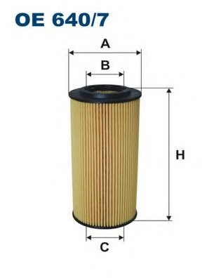 Mann Filter HU7212X Filtre /à huile