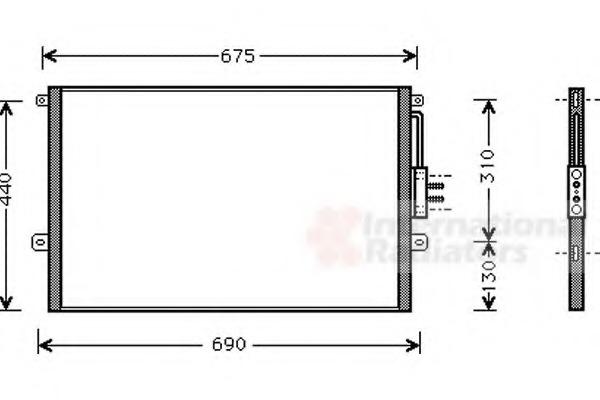 8FC 351 037-481 HELLA Condenser  air conditioning