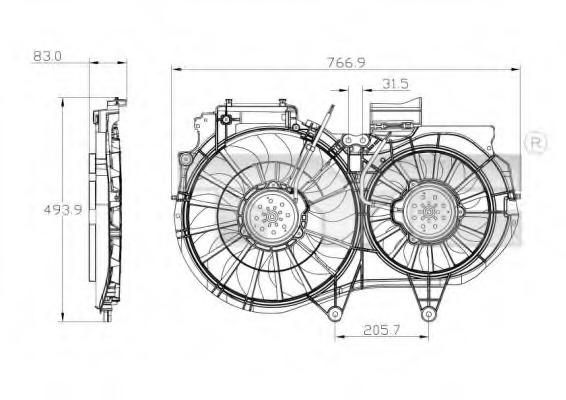 ventilaator mootorijahutus - audi a4  b6