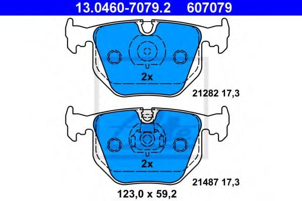 disc brake Rear Axle GDB1530DTE TRW Brake Pad Set