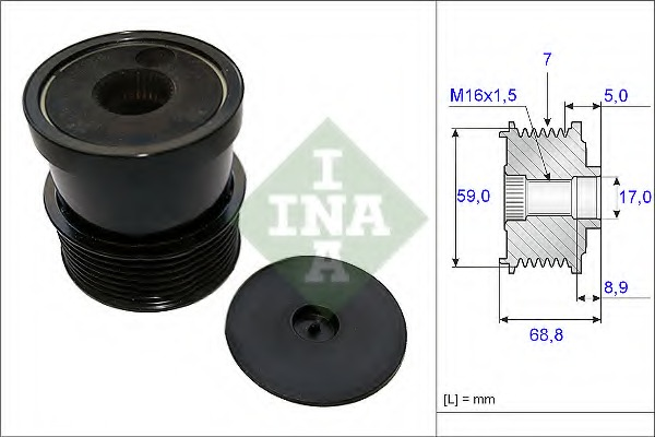 INA Alternator pulleys 535 0070 30 Discount Car Parts