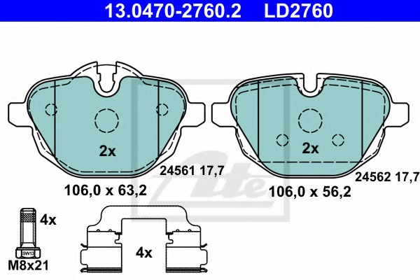 ATE 13.0460-2760.2 Brake Pads