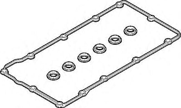 Gasket Set, cylinder head cover ELRING 303 010 for VW BEETLE (1C/9C/1Y)