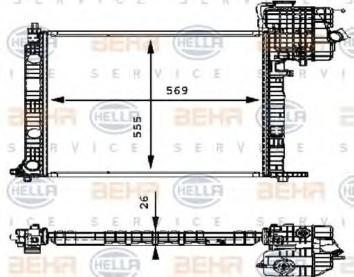 8MK 376 714-321 HELLA Radiator  engine cooling