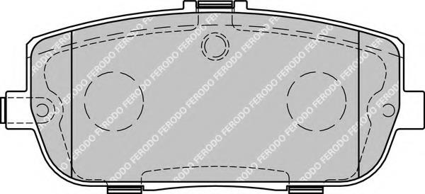 Ferodo FDB1894 Brake Pad Set disc brake set of 4