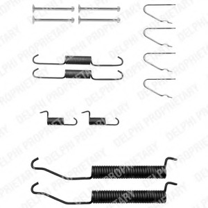 LY1308 Genuine Delphi Rear Brake Shoe Accessory Kit