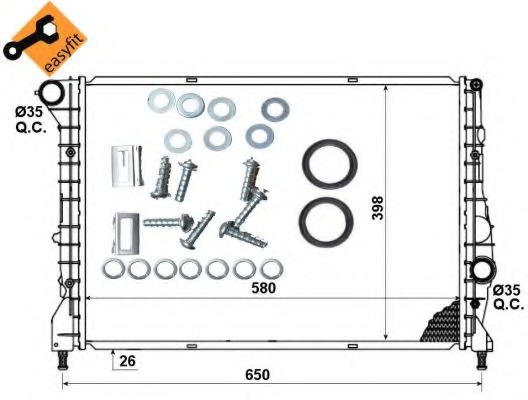 radiator, engine cooling nrf 53238