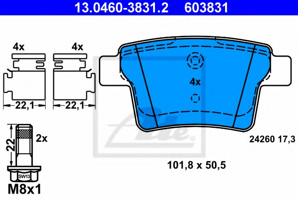 Mintex Rear Brake Pad Set MDB2691