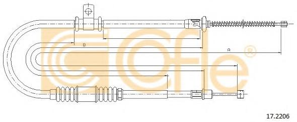 Cable, parking brake - MITSUBISHI LANCER VI SDN (CJO), 1995-1997