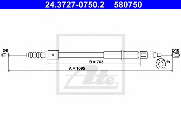 Cable Parking Brake For Opel Corsa Combo C X01 07 2000 10 2003 Specify The Car Model In Order To Find A Suitable Spare Part Alvadi Ee