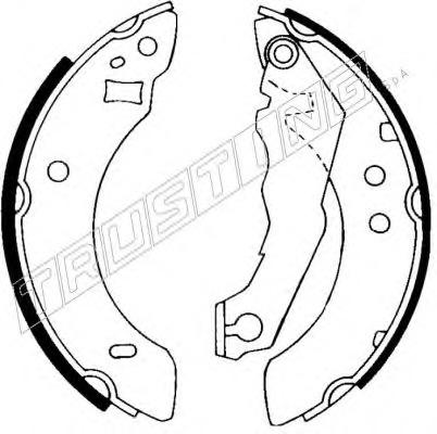 GS6151 TRW Brake Shoe Set Rear Axle