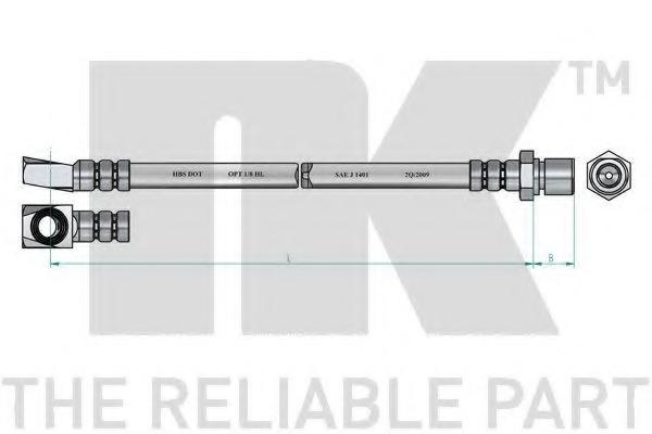 NK Flexible 853607 avant pour Opel Kadett City 1.0 1.2 1.6 2.0 rallye 1300