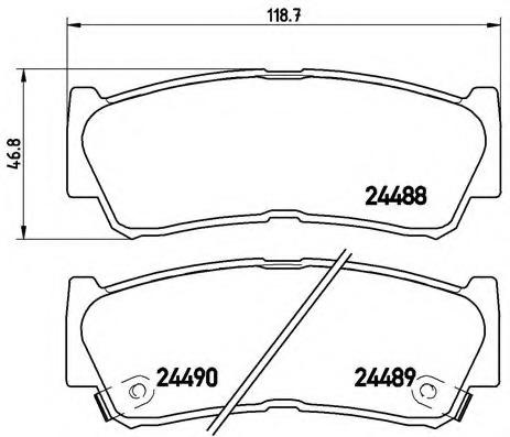 Brembo P30037 Rear Disc Brake Pad Set of 4