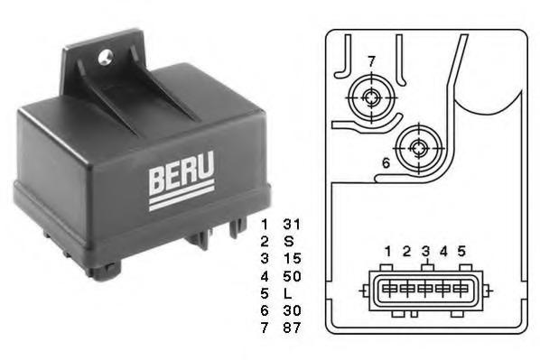 Control Unit, glow plug system - CITROEN XANTIA (X1/X2) + ... on