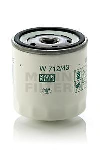 Mann-Filter Filtre à huile Ford w712//82