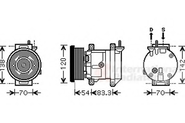 AC compressor for Chevrolet AVEO (T250) SEDAN - alvadi.ee on