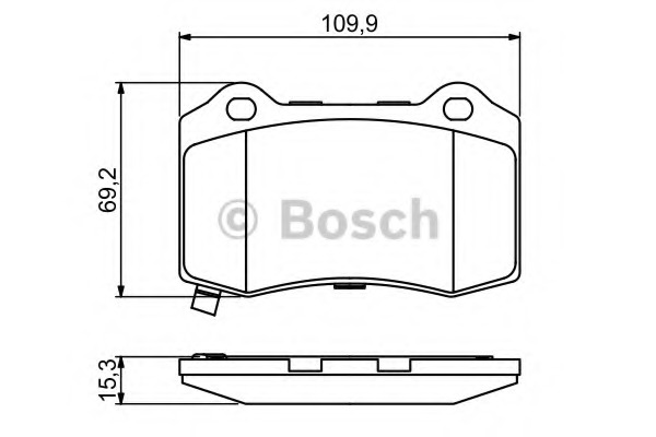 BoschBremsbeläge Hinten für CHRYSLER 300 C JEEP GRAND 0 986 494 708