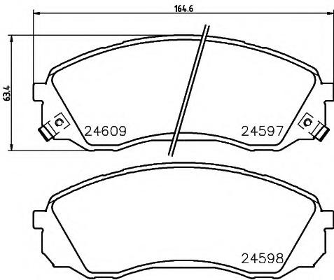 brake pads - HYUNDAI STAREX (H1) - Parts