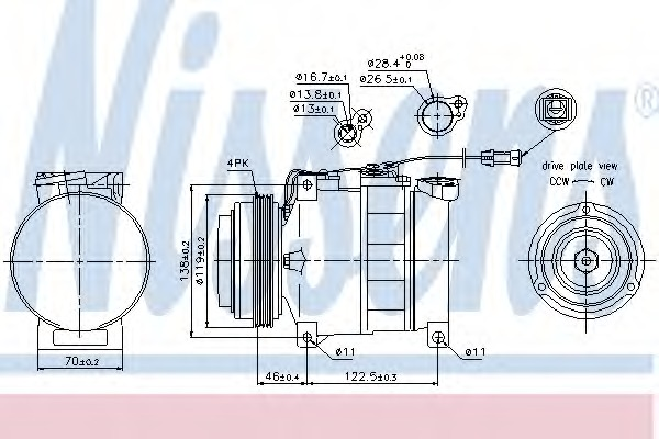 Nissens 89049 Compressor air conditioning