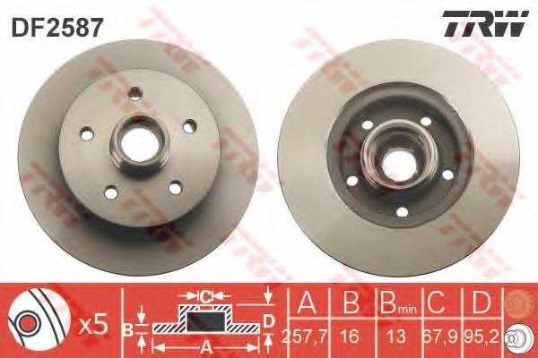тормозной диск на фольксваген транспортер