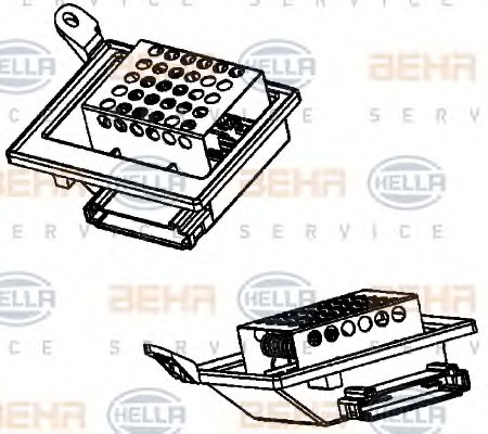 Resistor, interior blower - Mercedes-Benz VITO (W639) - Parts