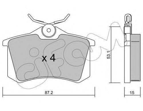 Set of Rear Delphi Lockheed Brake Pads For VW LP565