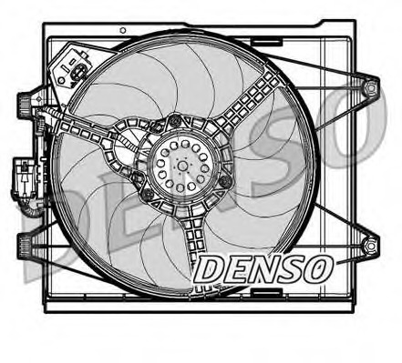 Fan, radiator DENSO DER09048 for Fiat