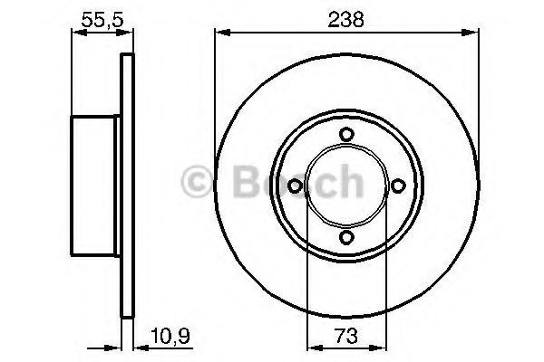 brake disc - opel kadett c