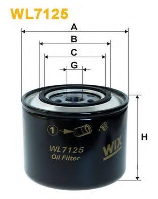 Oil Filter WIX FILTERS WL7125 for Alfa Romeo, Audi, Volkswagen, Volvo,  Renault, Fiat, Iveco