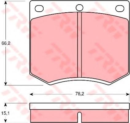 QH BP102 Brake Pad Set