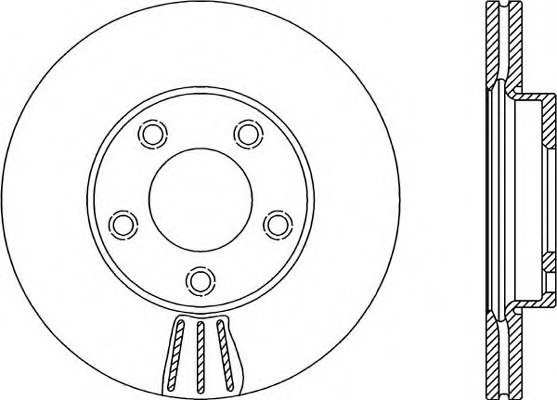2 Brake Disc internally ventilated febi bilstein 32765 Brake Disc Set of Holes 5 No front