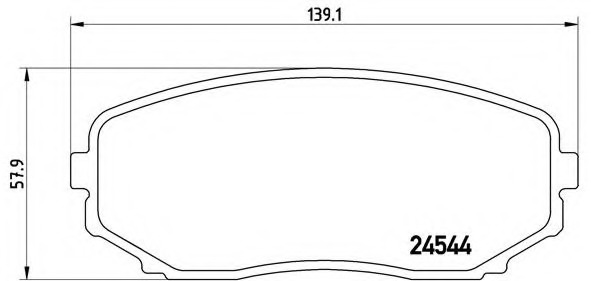 Brembo Front Brake Pad Set Mazda CX-7 P49040