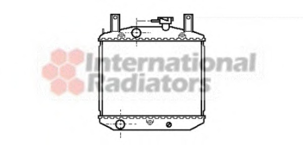 radiator, engine cooling van wezel 11002008