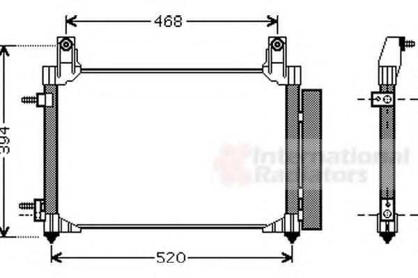 Van Wezel 81005081 Condenser Air Conditioning