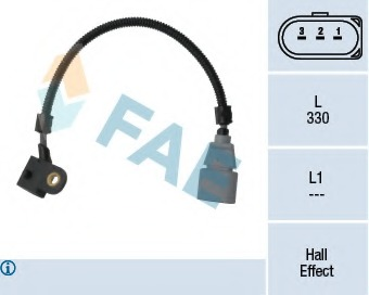 Sensor, camshaft position FAE 79330 for VW TRANSPORTER (T5)/MULTIVAN