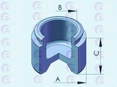 Piston, brake caliper for Toyota LAND CRUISER (FJ120
