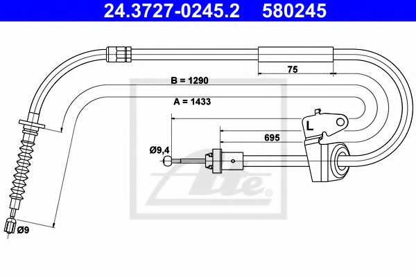 ABS K19647 Park Brake Cable