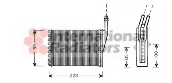 heat exchanger, interior heating van wezel 43006249