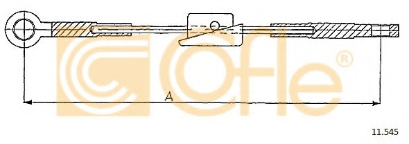 First Line FKB1141 Brake Cable Front