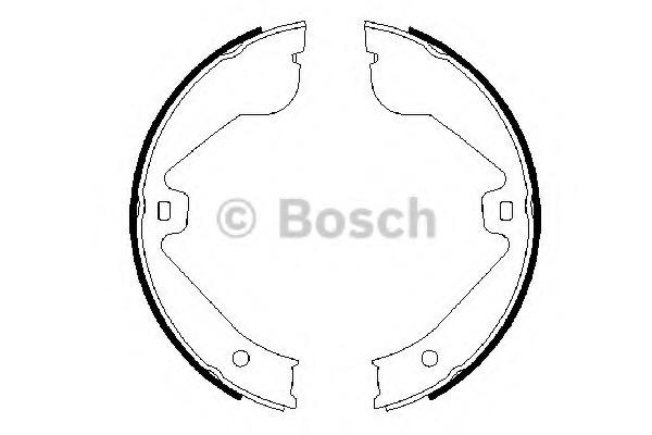 parking brake Rear Axle GS8718 TRW Brake Shoe Set