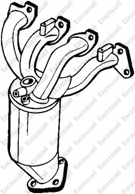 catalytic converter bosal 090 157 for opel Purple Vauxhall Tigra catalytic converter