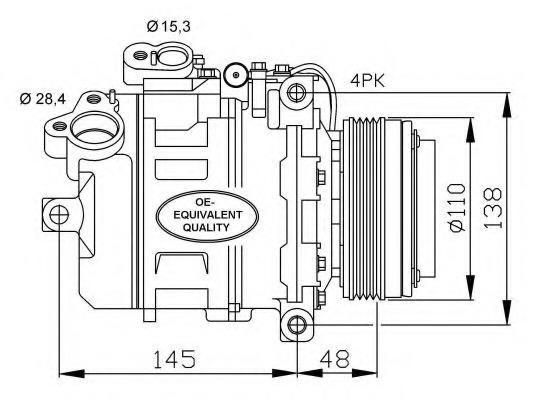 Compressor, air conditioning NRF 32465 for BMW
