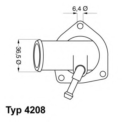 thermostat, coolant wahler 4208.92d 4208.92d for opel astra g